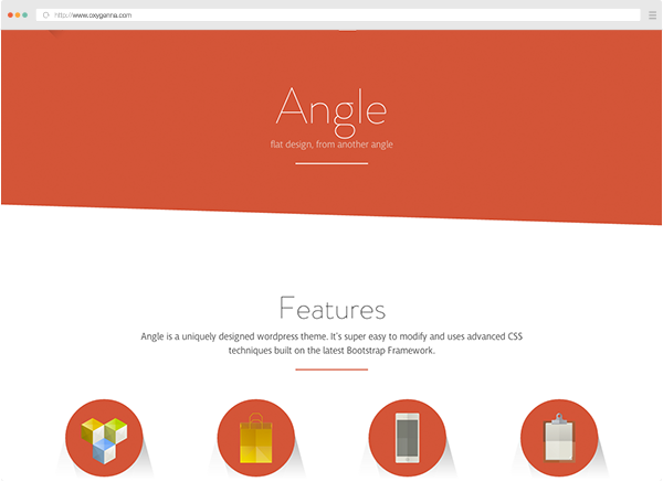 Angle (wordpress theme) <span>$58</span>