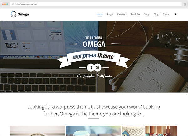Omega (wordpress theme) <span>$59</span>