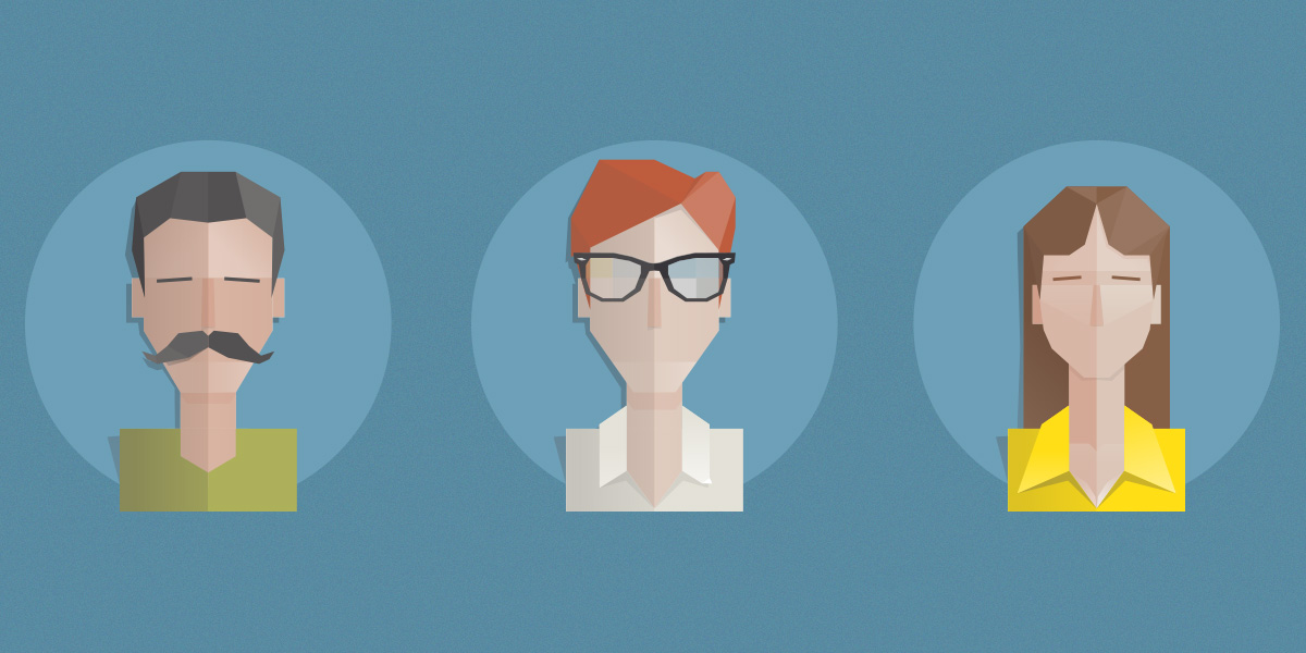 Free set of 3 high resolution Flat Avatars