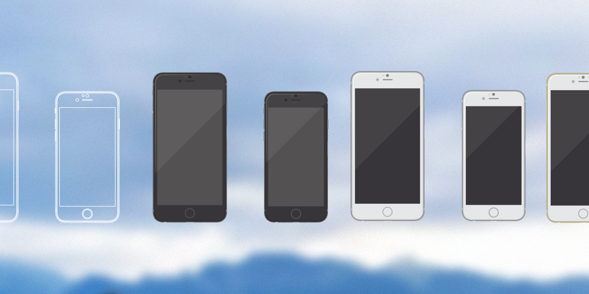 Free iPhone 6 mockups-illustrations