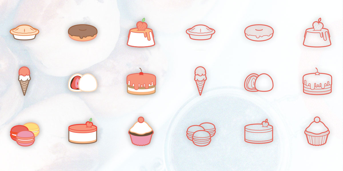 Free sweets/desserts icon set