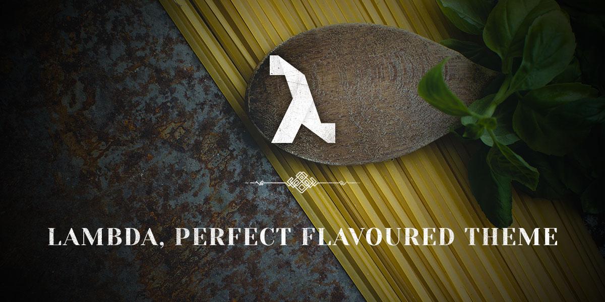 Restaurant theme, adding some flavour to Lambda