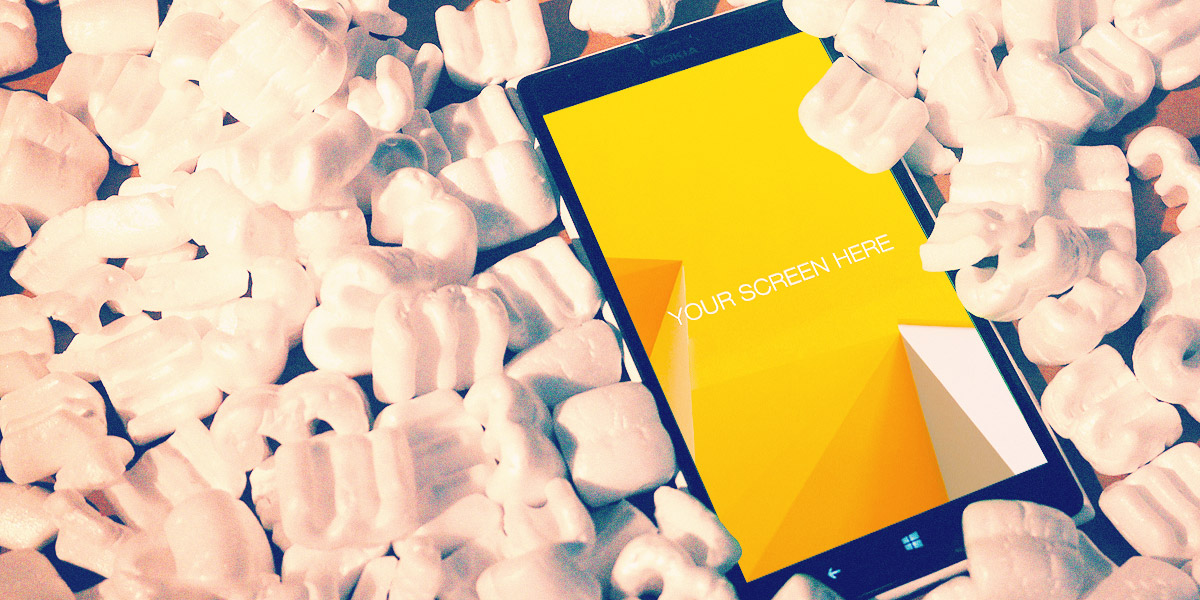 Free Nokia Lumia, Winter Mockups