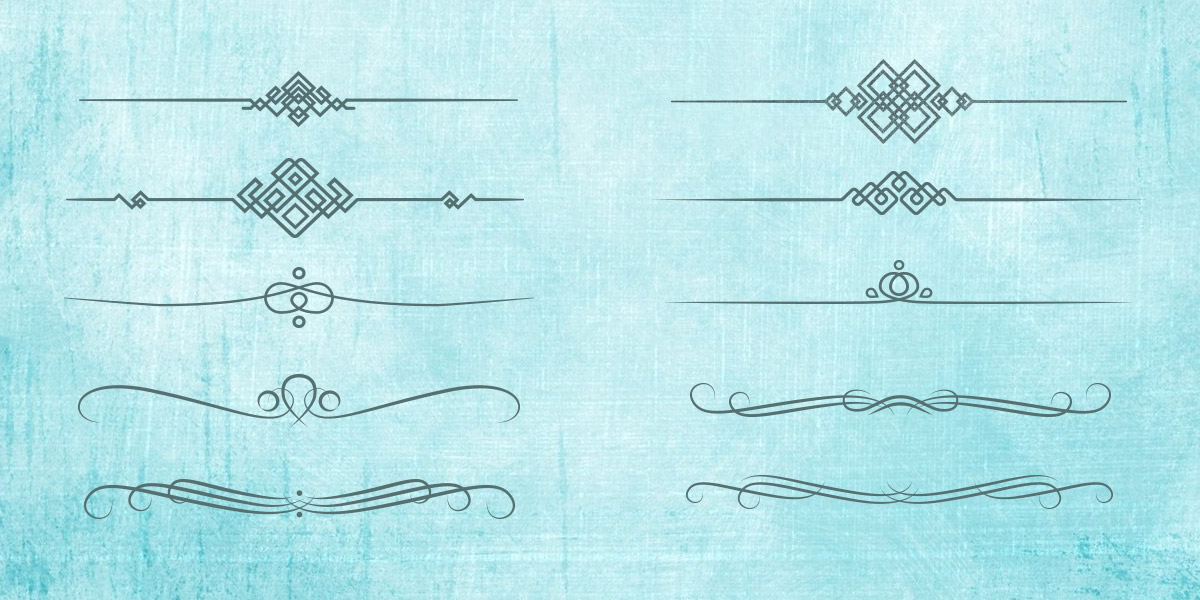 Free Set of Vector Ornamental Dividers