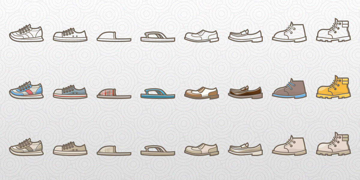 Free Shoes Lifestyle Icon Set