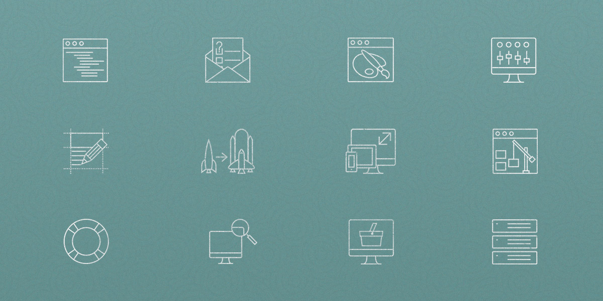 Free Web Design Outline Icon Set