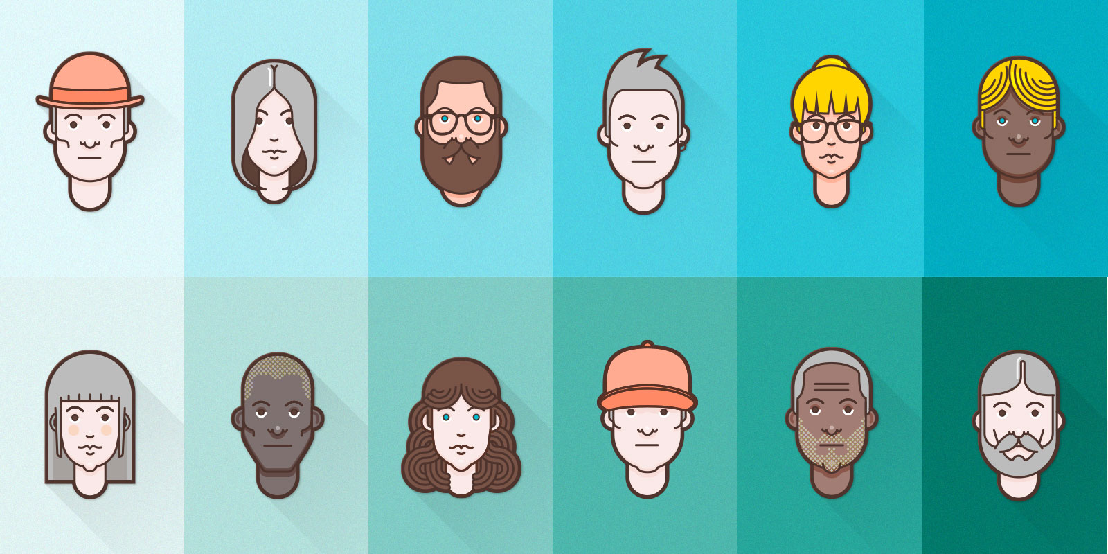 Premium Material Design Avatar Set – 1440 avatars!
