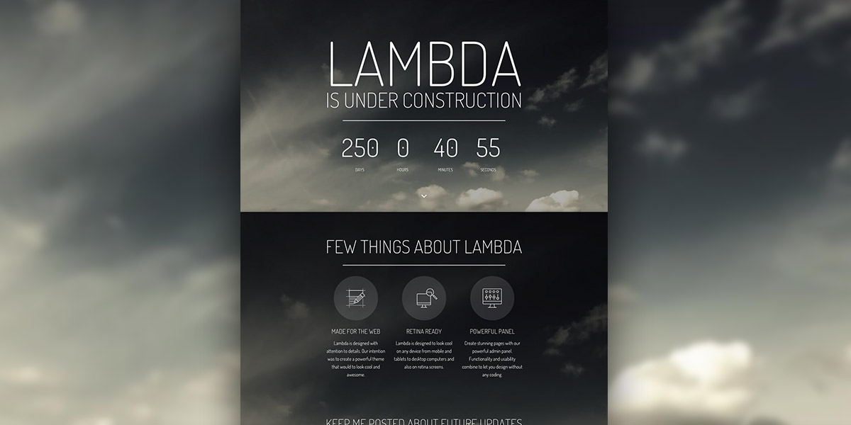 Lambda Coming Soon Demo