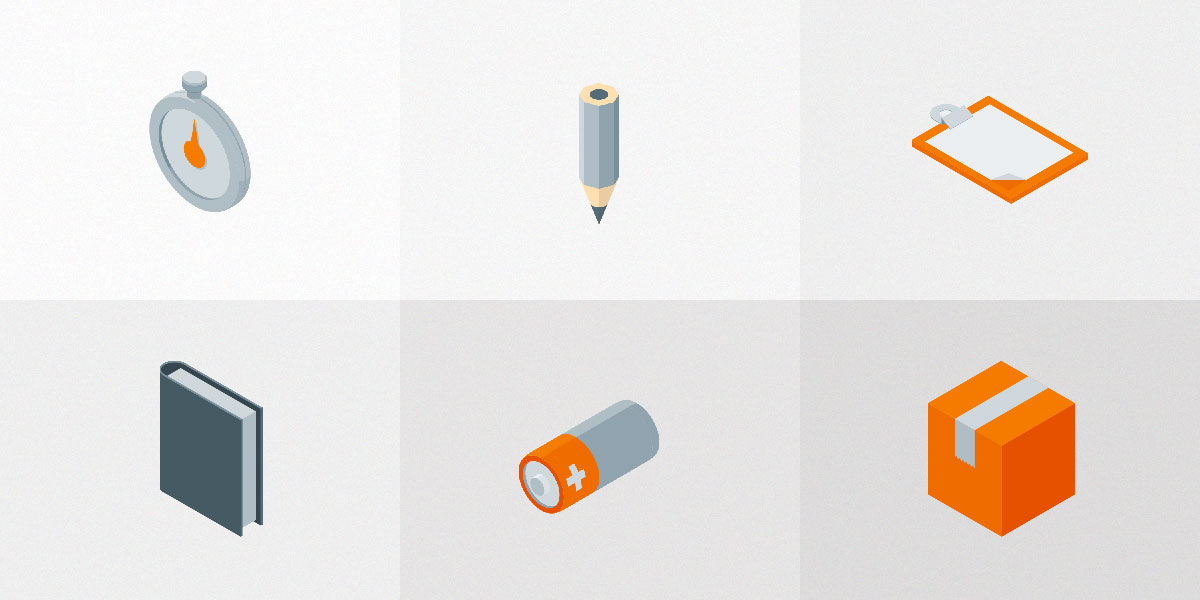 Set of Free Isometric Material Icons vol 2