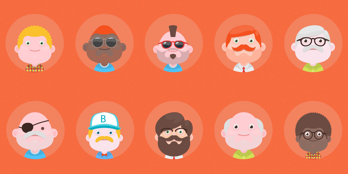 New Set of Free Material design avatars