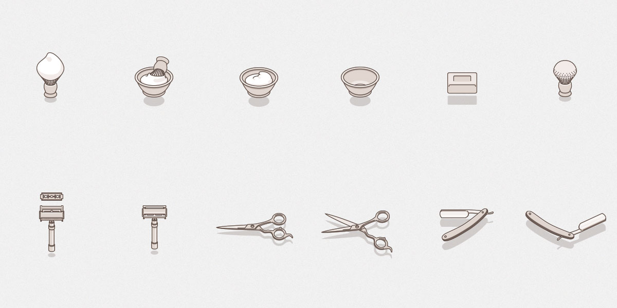 Free Set Of Barber Icons