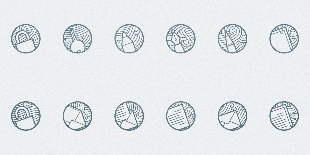 Zen icons: A Free Set of 12 minimal outline Icons