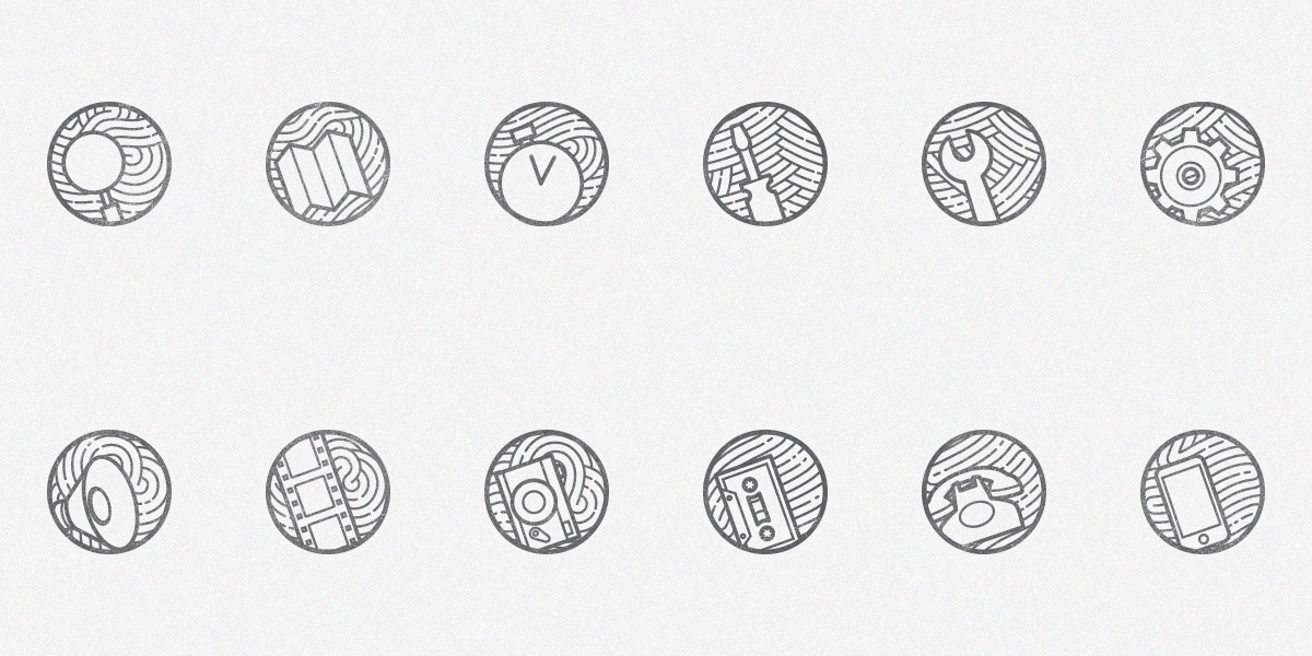 Zen icons vol 2: A New Free Set of 12 minimal outline Icons