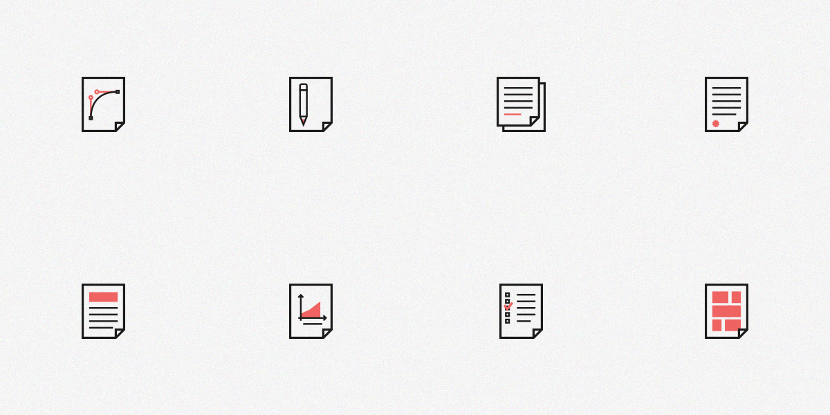 Set of Free Document Icons