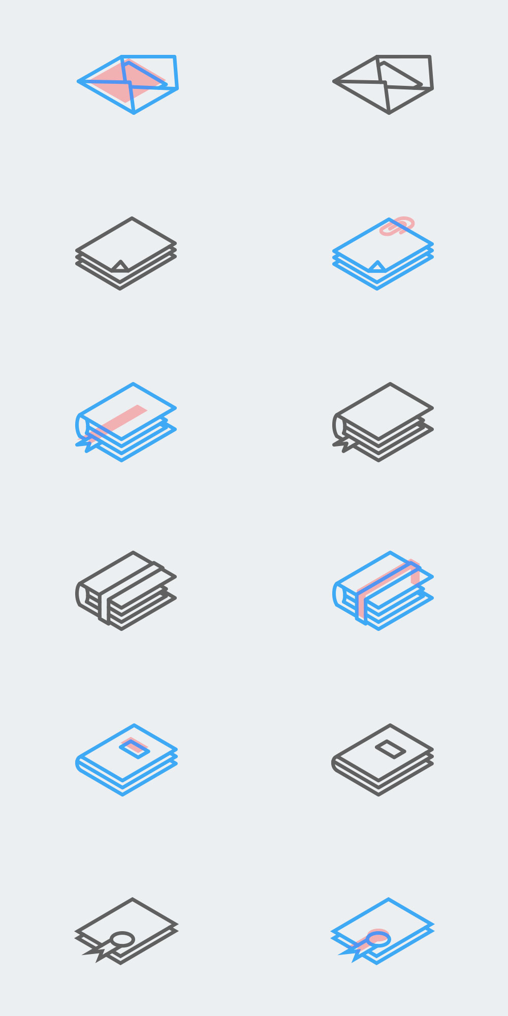 Blog Free Isometric Icons