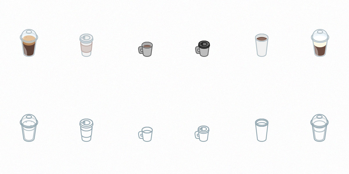 Free Set of Take Away Coffee Icons!