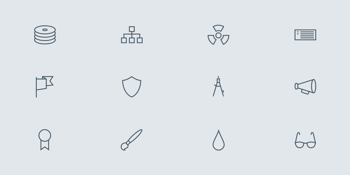 Brand new set of our Outline Icon series!