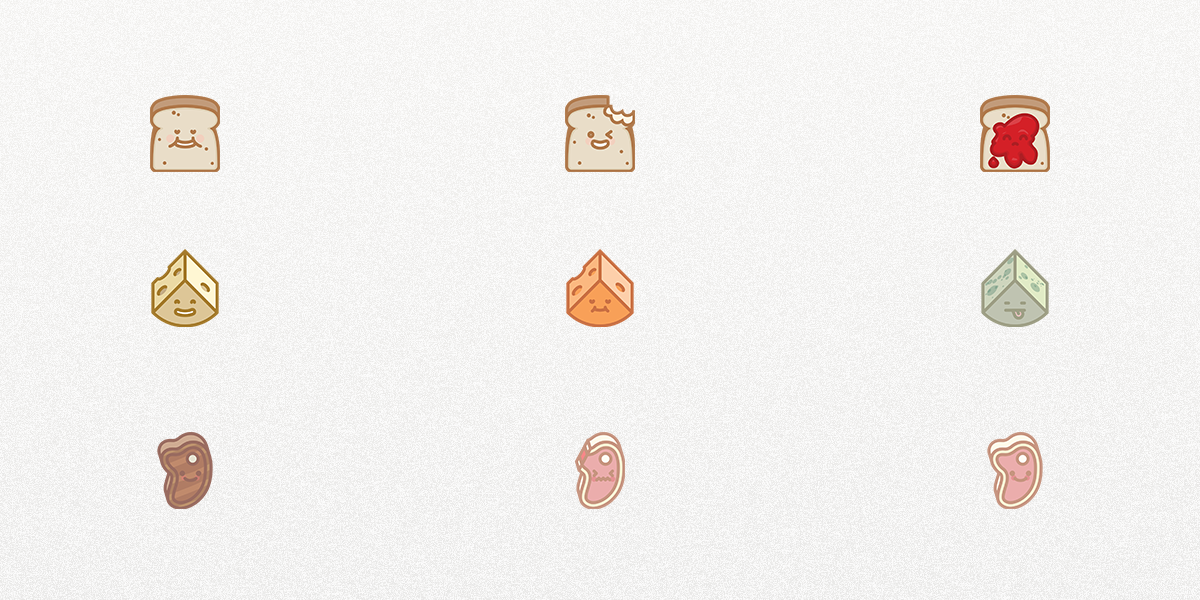 Grab a bite of our latest freebie, Emotion Icons vol.3!