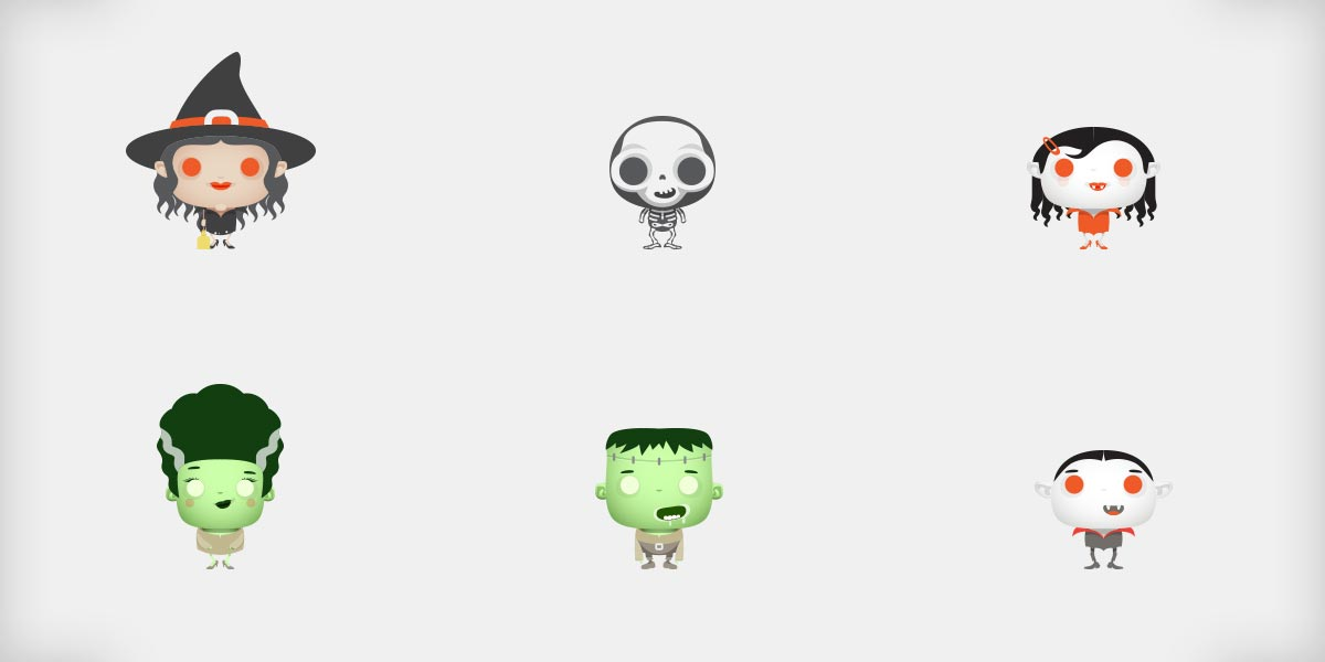 Freebie – Halloween Cute Monsters!