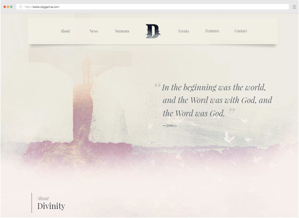 Divinity &#8211; Church, Charity &#038; Non Profit HTML template <span>$19</span>