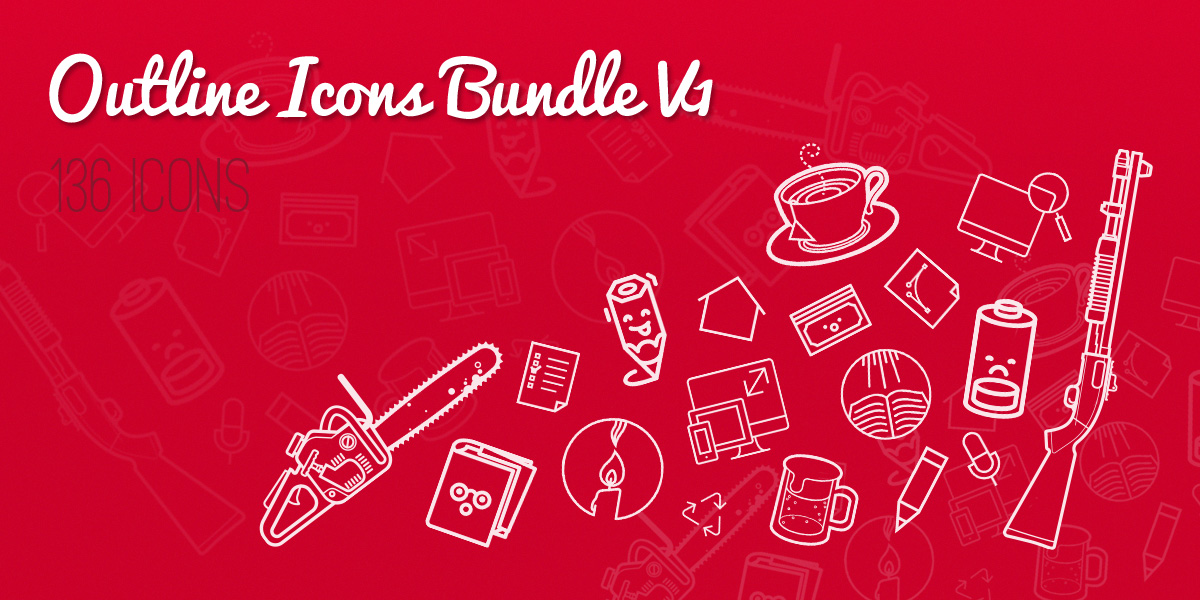 Amazing Freebie – Outline Icons Bundle! ( Part 1)