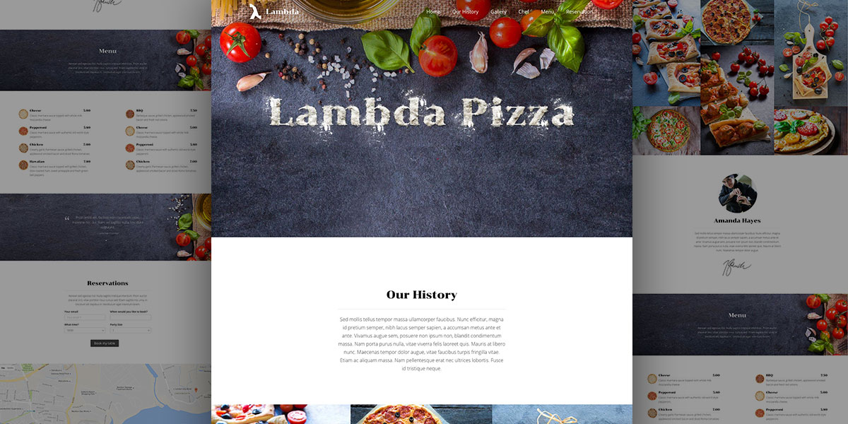 Yum Yum! A delicious Lambda Pizza Food demo