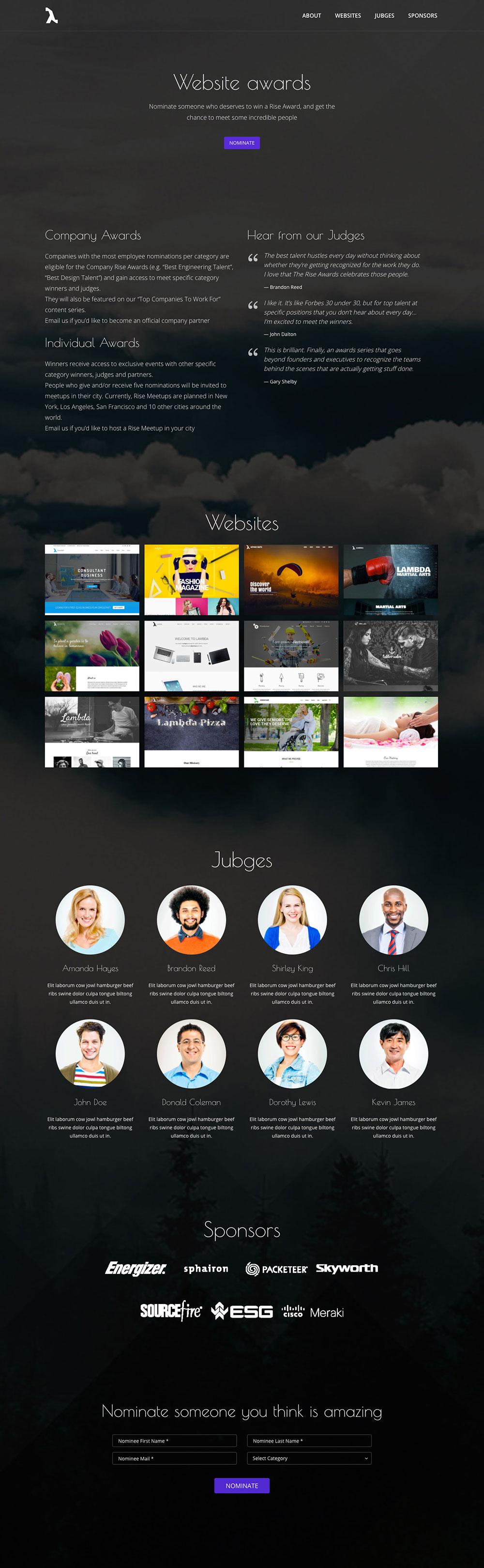 Website Awards for WordPress
