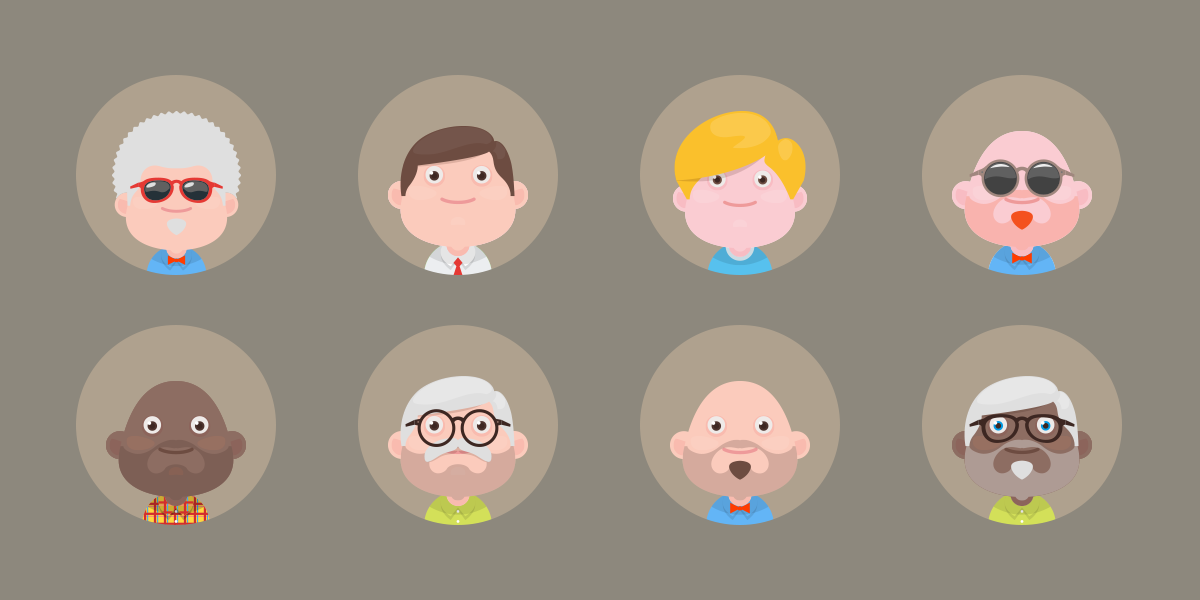 Freebie – Material Avatars Set 3!
