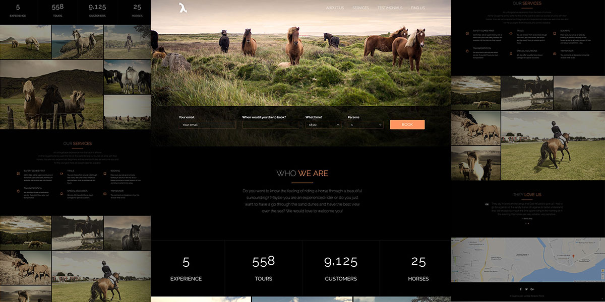 Ride with us! Lambda WordPress Horse Riding demo