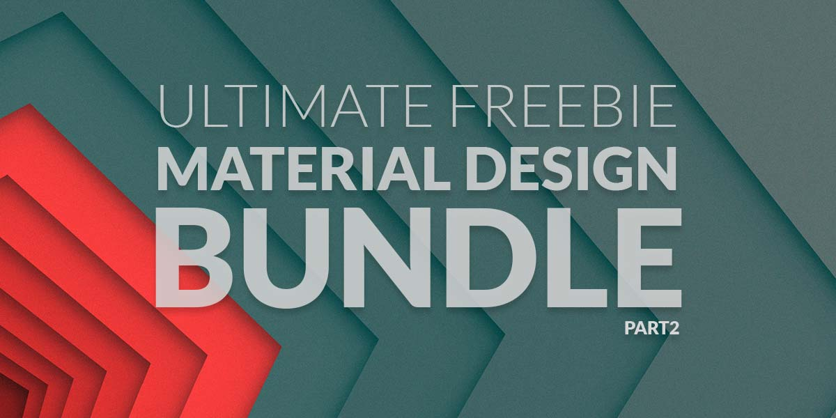 Ultimate Freebie – Material Design Bundle! More than 100 items!