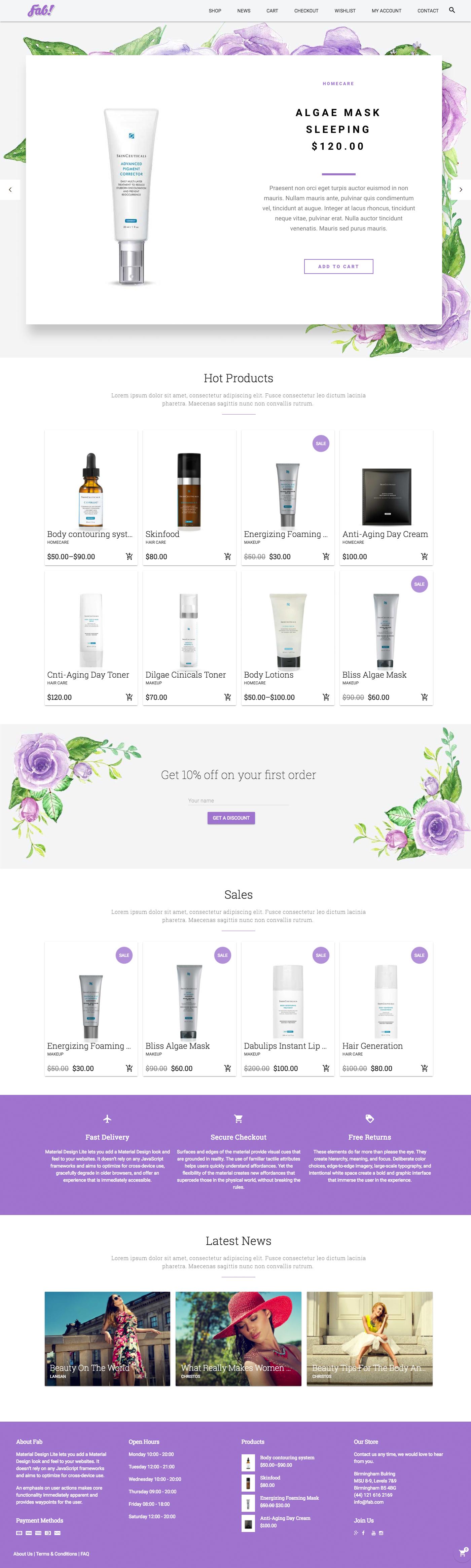 Beauty Products e-Shop