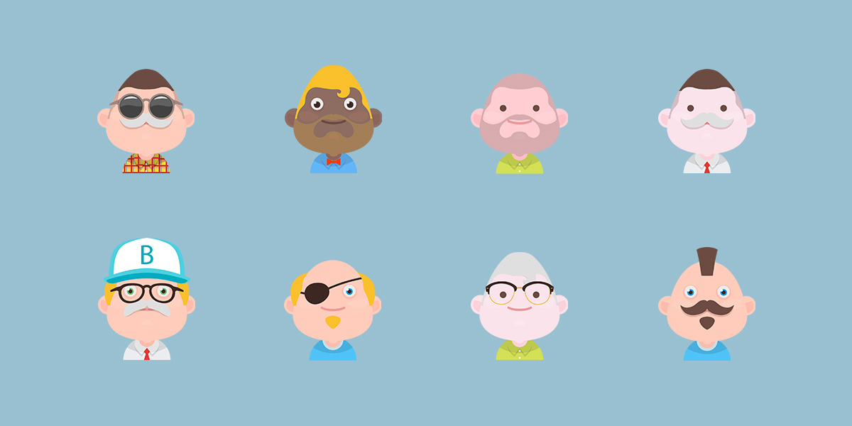 Freebie – Material Avatars Set 4!