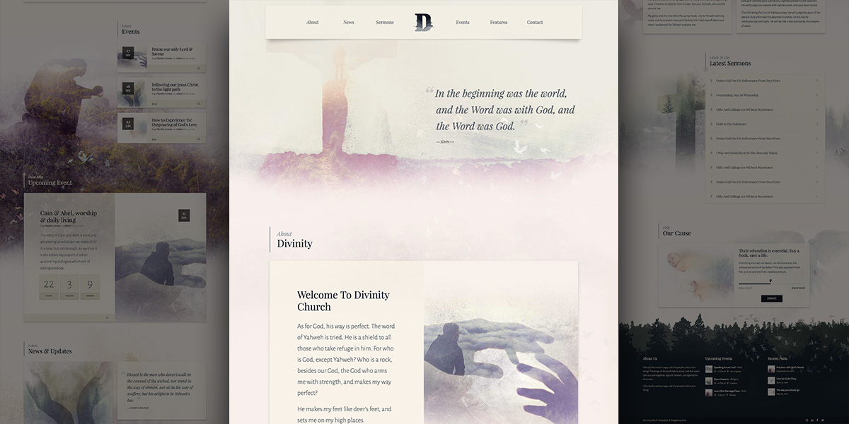 Divinity Genesis for WordPress – Unique & Artistic Church Demo.