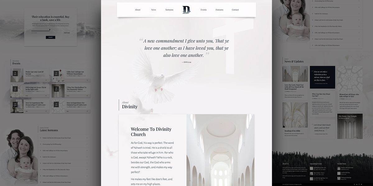Divinity Psalms – Clean & Minimal Church Demo for WordPress