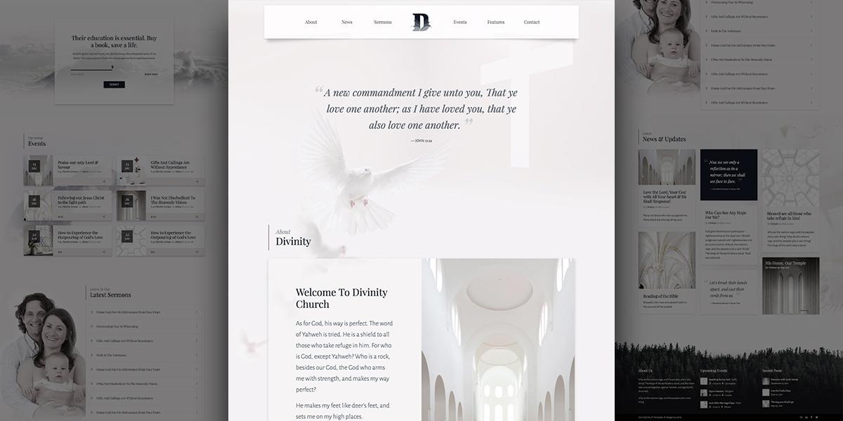 Divinity Psalms – Clean & Minimal Church Demo for WordPress