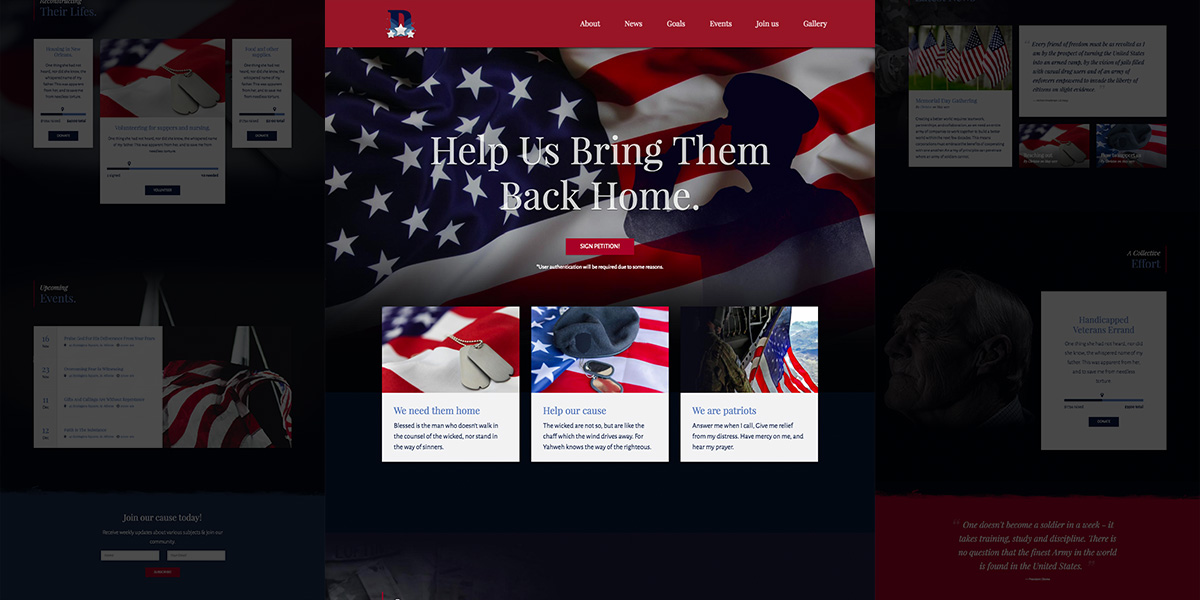 Divinity Kings for WordPress Veterans Fundraising – Impactful Demo.