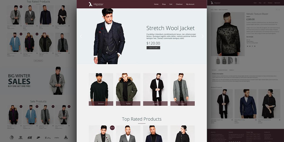 WordPress Hipster e-Shop