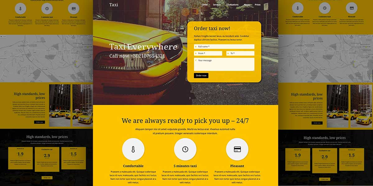 citycab lambda wordpress demo