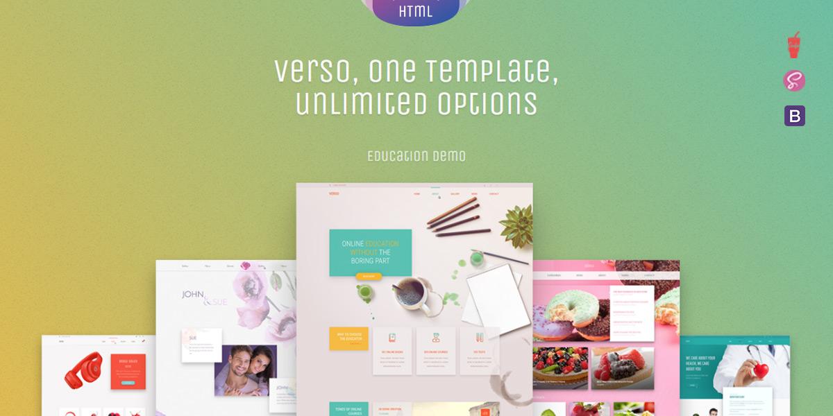 Verso - Bootstrap 4 Multipurpose HTML Theme