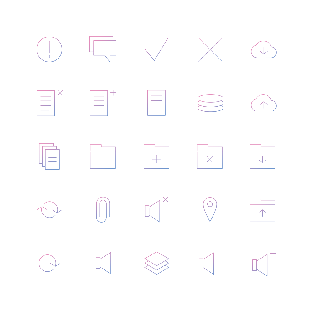 Management Icons Pack