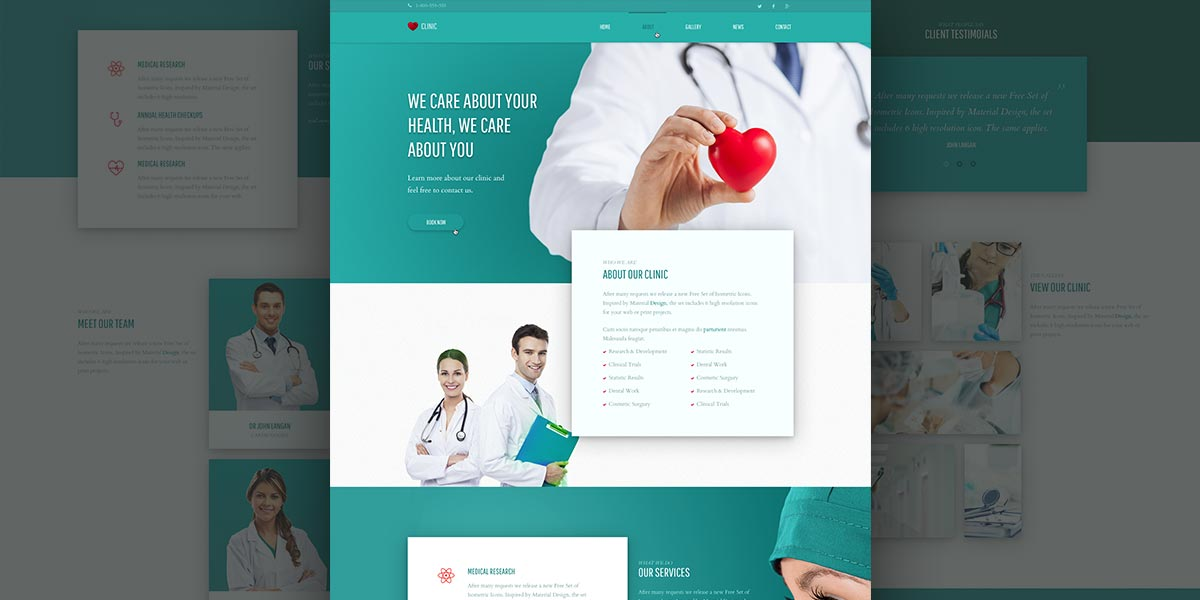 Free medical PSD Template! Verso