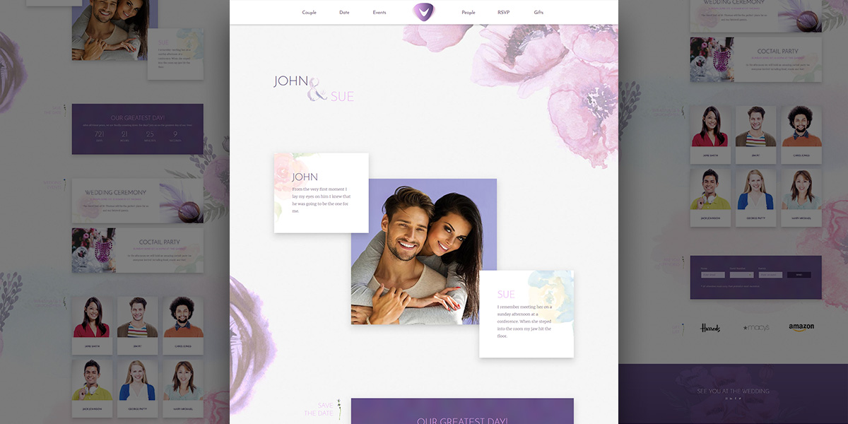 Freebie: Wedding PSD Template! Verso