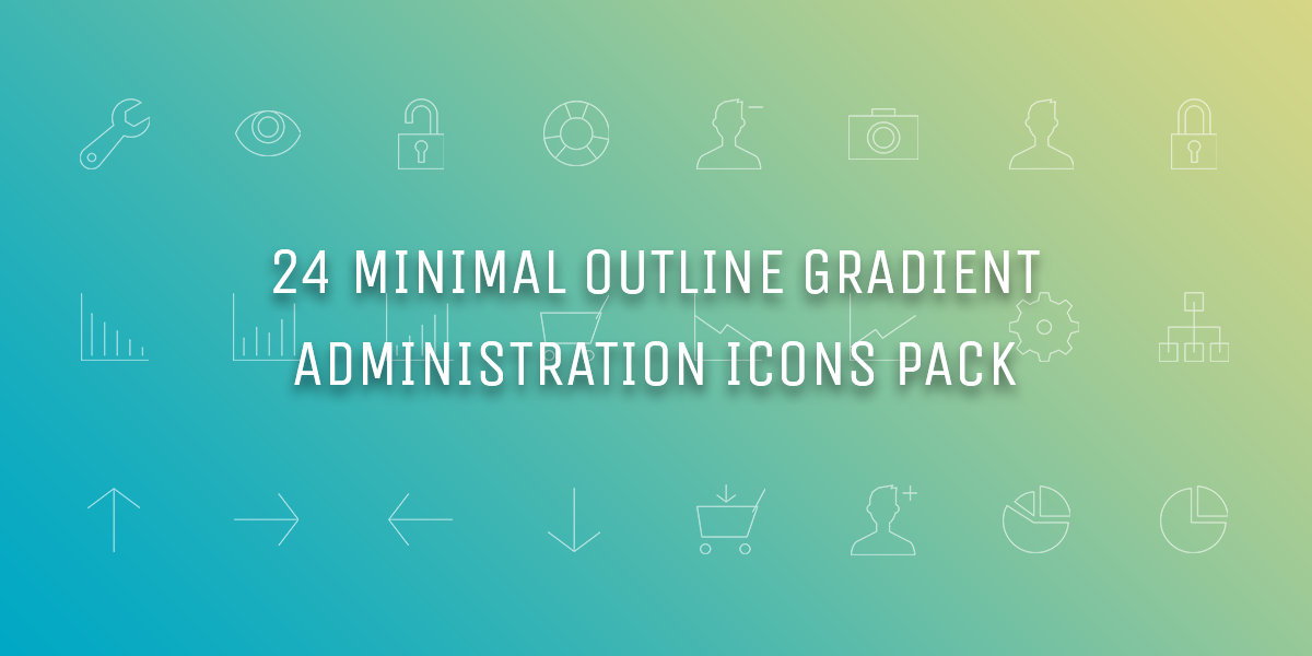 Freebie: Minimal Gradient Outline Administration Icons Pack