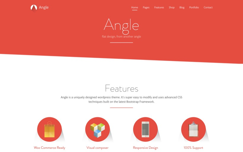 Angle - Flat Responsive Bootstrap Template - Oxygenna Web Design